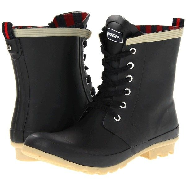 Tommy Hilfiger Womens Black Boots Renegade