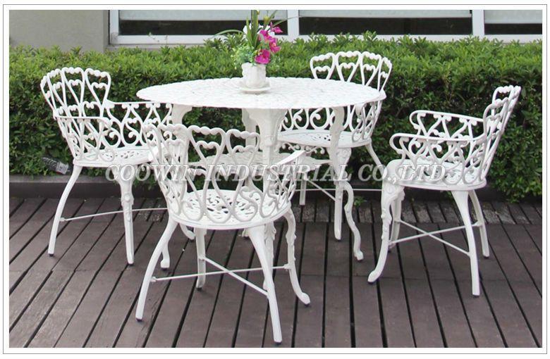 White Aluminum Patio Furniture Outdoor Furniture Sets Aluminum