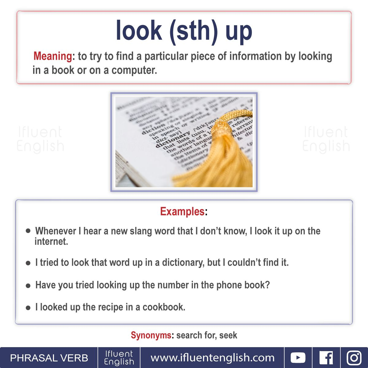 Useful Phrasal Verbs With Look With Images