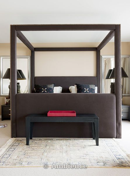 Modern Four Poster Beds modern upholstered four poster bed | now i lay me down to sleep