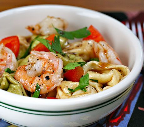 Tortellini Shrimp Salad Picnic Or First Day Camping Food