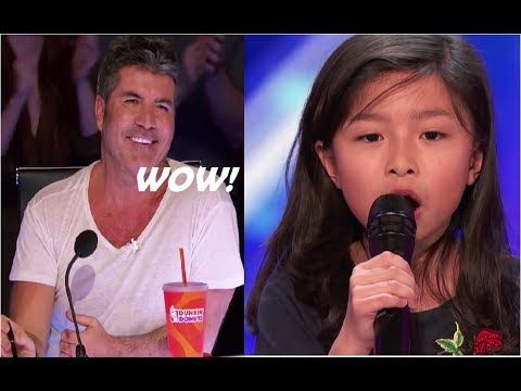 Meet Celine 9 Year Old Adorable Singer Is The Next Celine Dion Americ Youtube America S Got Talent Singer