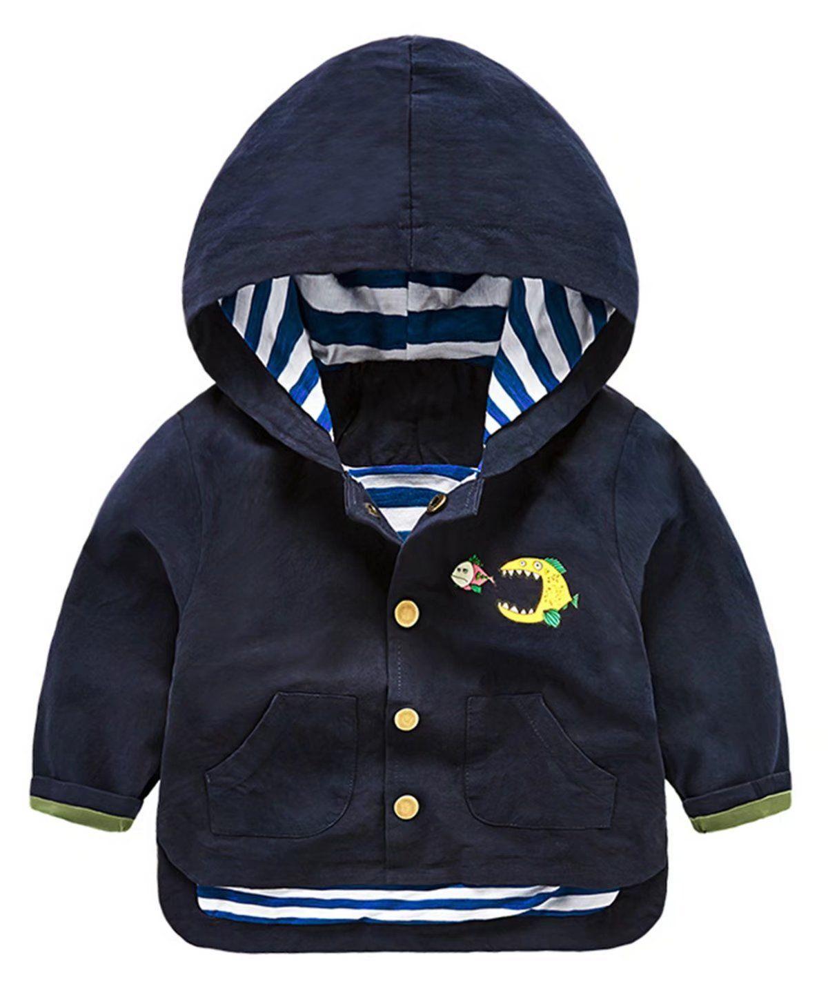 Betusline Unisex Kids Baby Boys Hood Coat Jacket Outwear Hoodies Material Cotton Blended Solid Color Long Sleeves P Kids Outerwear Outwear Jackets Kids Coats [ 1426 x 1200 Pixel ]