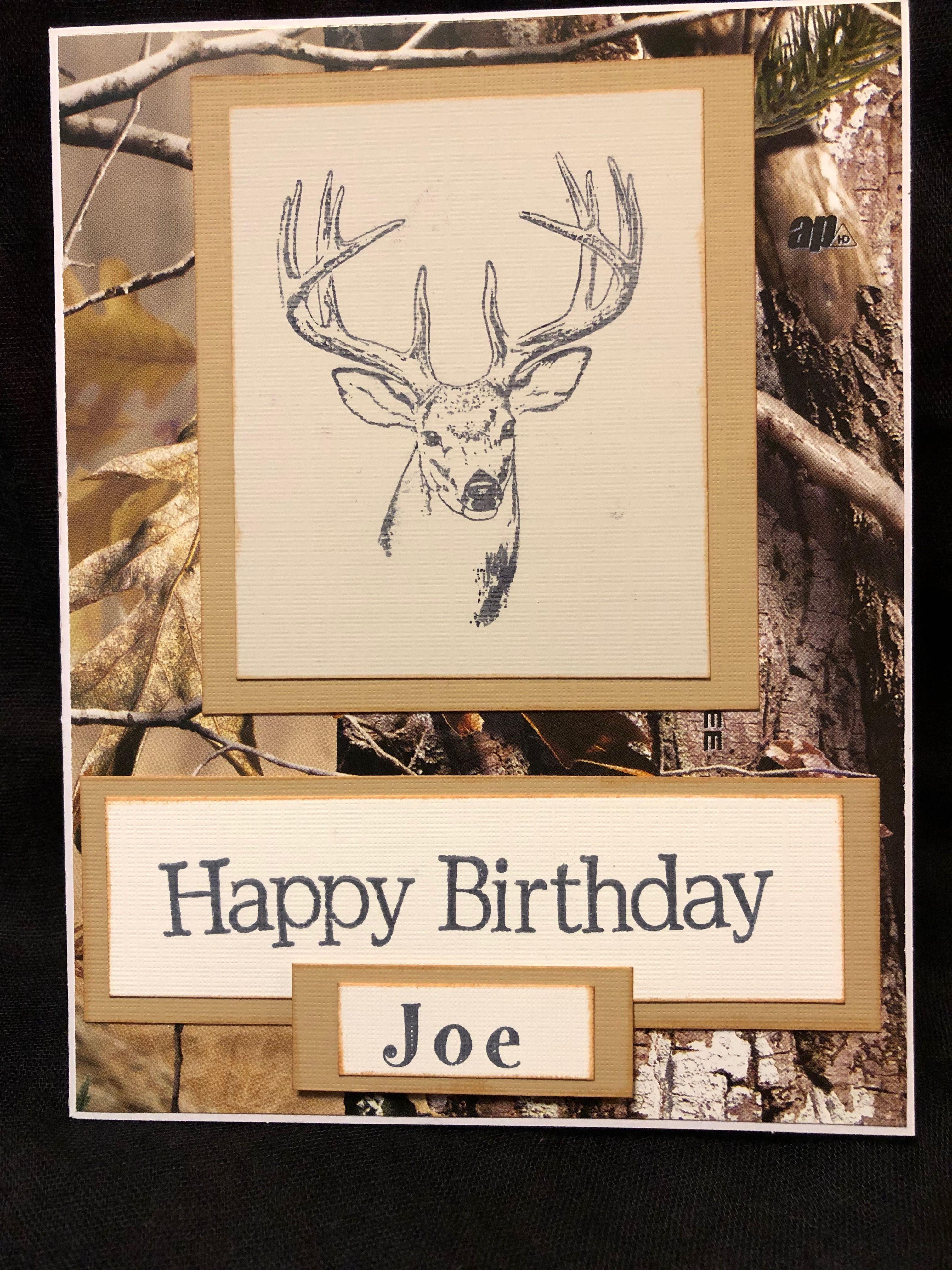Deer Birthday Card Happy Birthday Joe Birthday Cards Cards