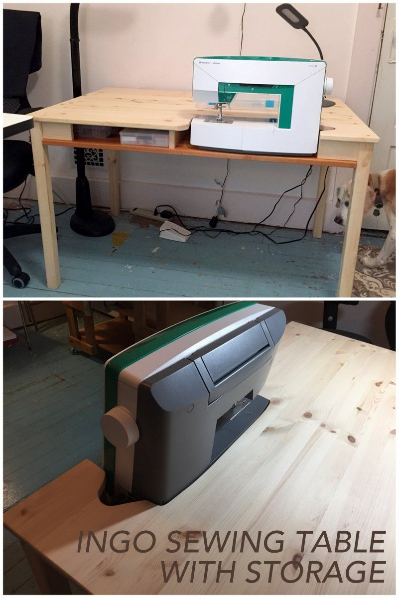 Diy sewing table ikea ikea ingo to sewing table with storage  craft  journalling and