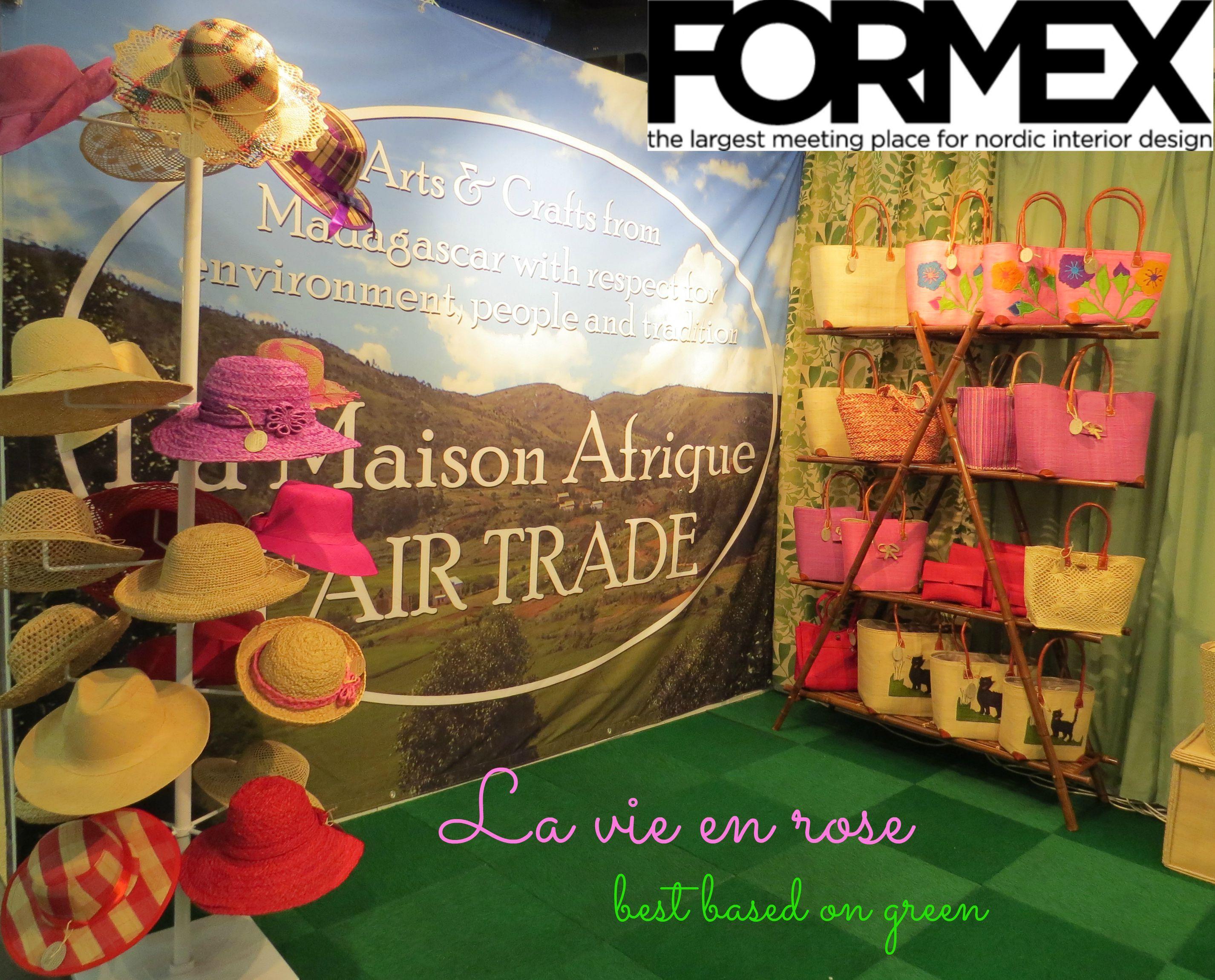 La vie en rose - best based on green. La Maison Afrique FAIR TRADE at Formex, August 2015