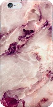 'Pink Marble 01' iPhone Case by mmartabc