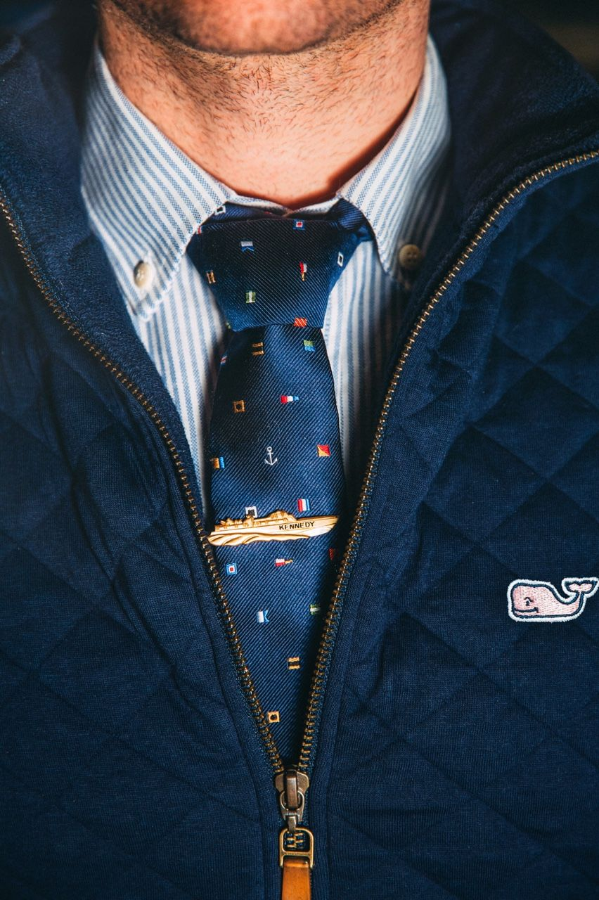Vineyard Vines Whale Quilted Jacket Nautical Tie