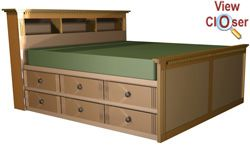 High Storage King Bed Woodworking Plans In Black Or Espresso Wood Not Feeling Light Colors