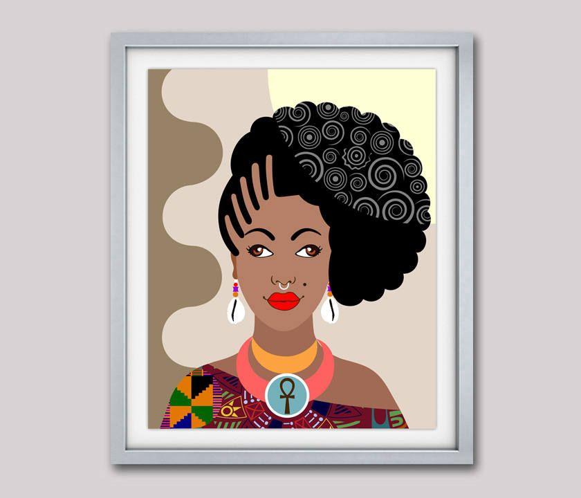 Black Queen African American Black Woman Black Girls Art Black Girls Rock Black Girls Magic Natura Black Girl Art African Women Painting Face Illustration
