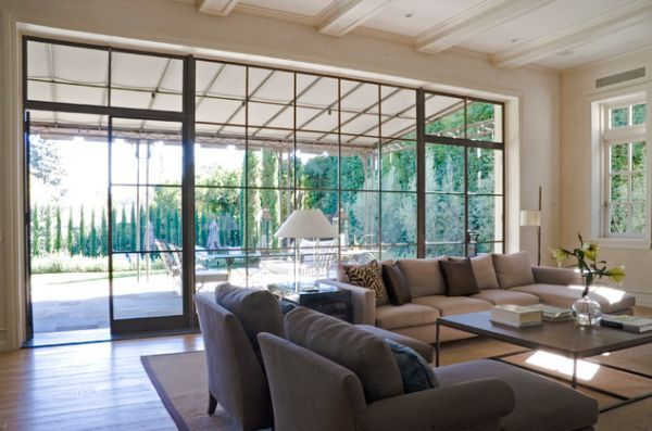 How To Decorate A Living Room With Large Windows Living Room Windows Floor To Ceiling Windows Family Room Design Decorating large living room with