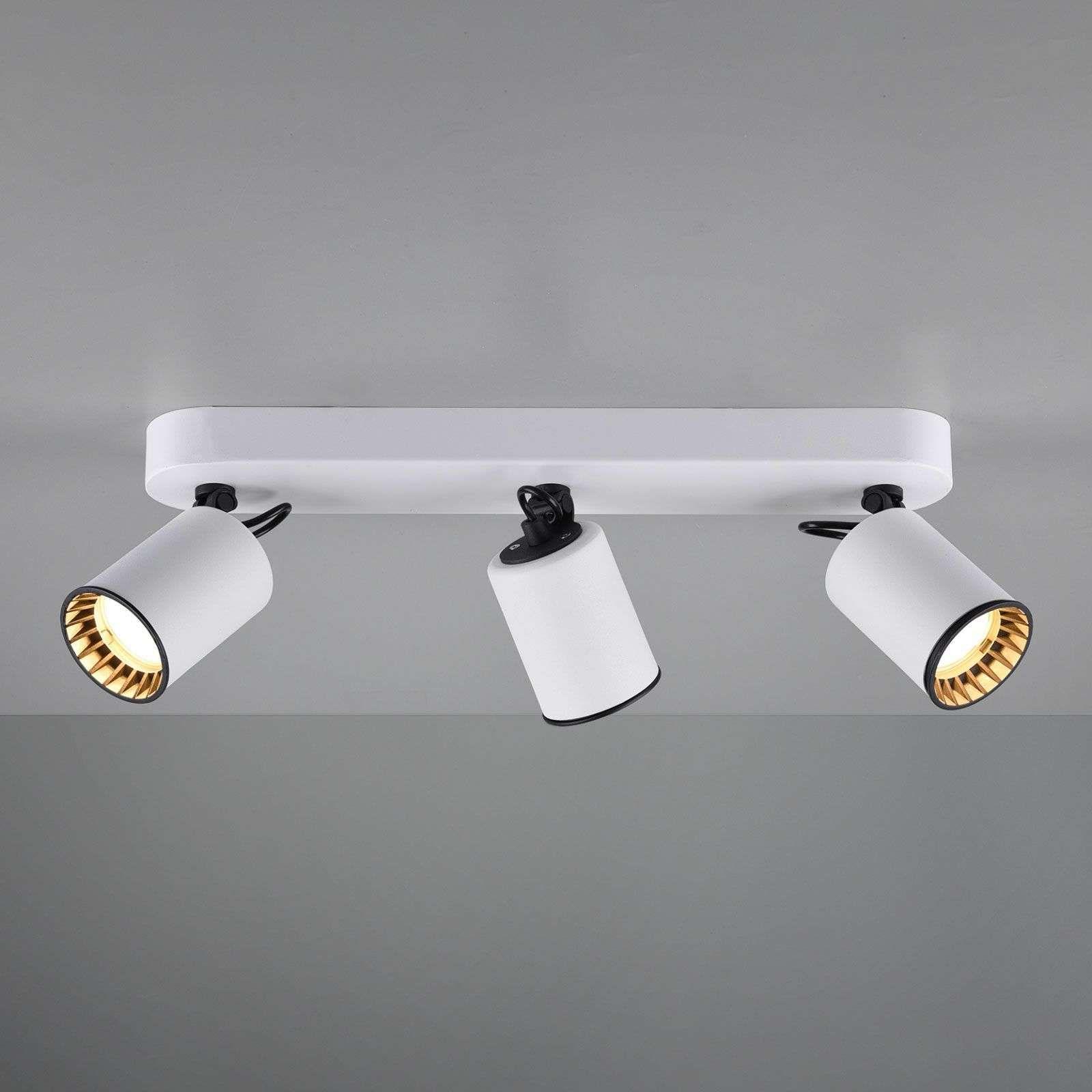 Spot Pour Plafond Pago A 3 Lampes Blanc De Trio Lighting En 2020 Spot Plafond Lamp Plafond