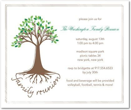 Family Reunion Invitations | Perfect For Your Next Family Reunion, This  Party Invitation Features A  Invitations For Family Reunion