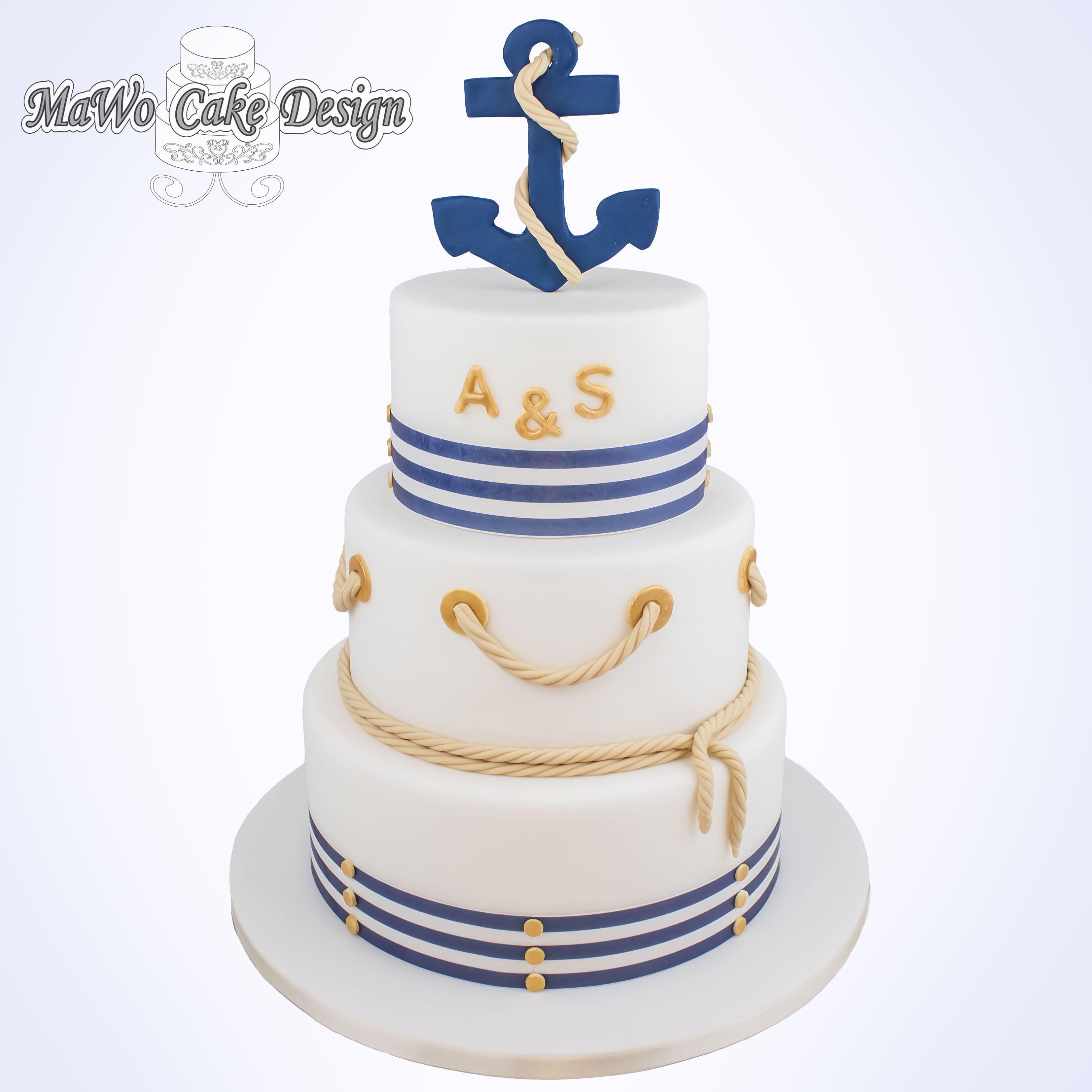 Hochzeitstorte Anker bei MaWo Cake Design in Süderbrarup