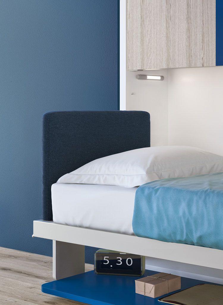 Kali Duo Board Twin Bunk Wall Bed Desk Space Saving Yatak Baza