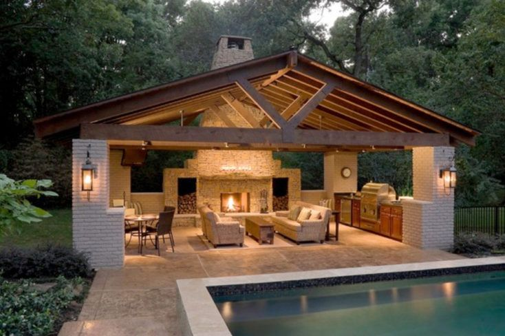 Creative pergola designs and diy options outdoor living for Outdoor pool house designs