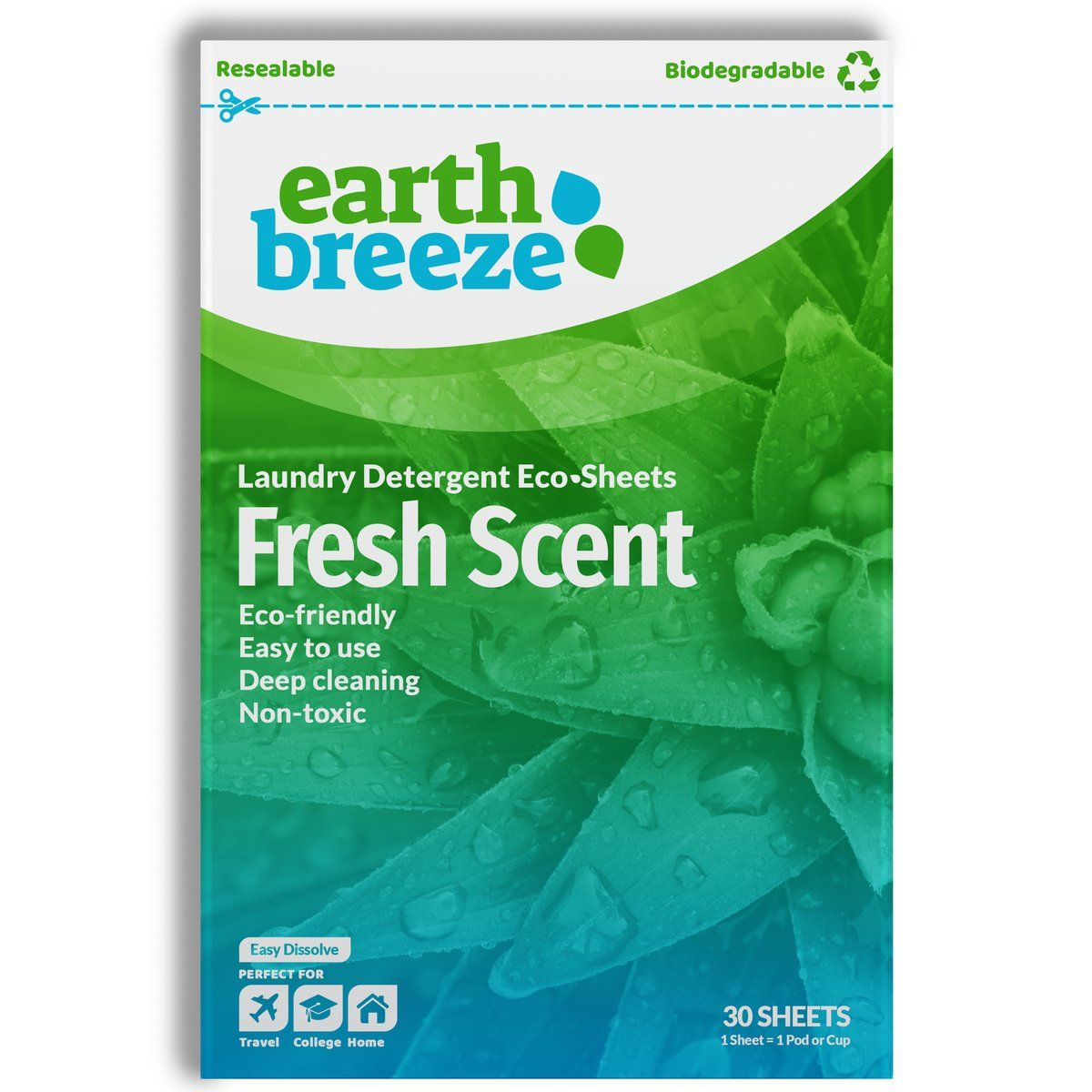 Eco Strips Laundry Detergent Fresh Scent 30 Loads Laundry