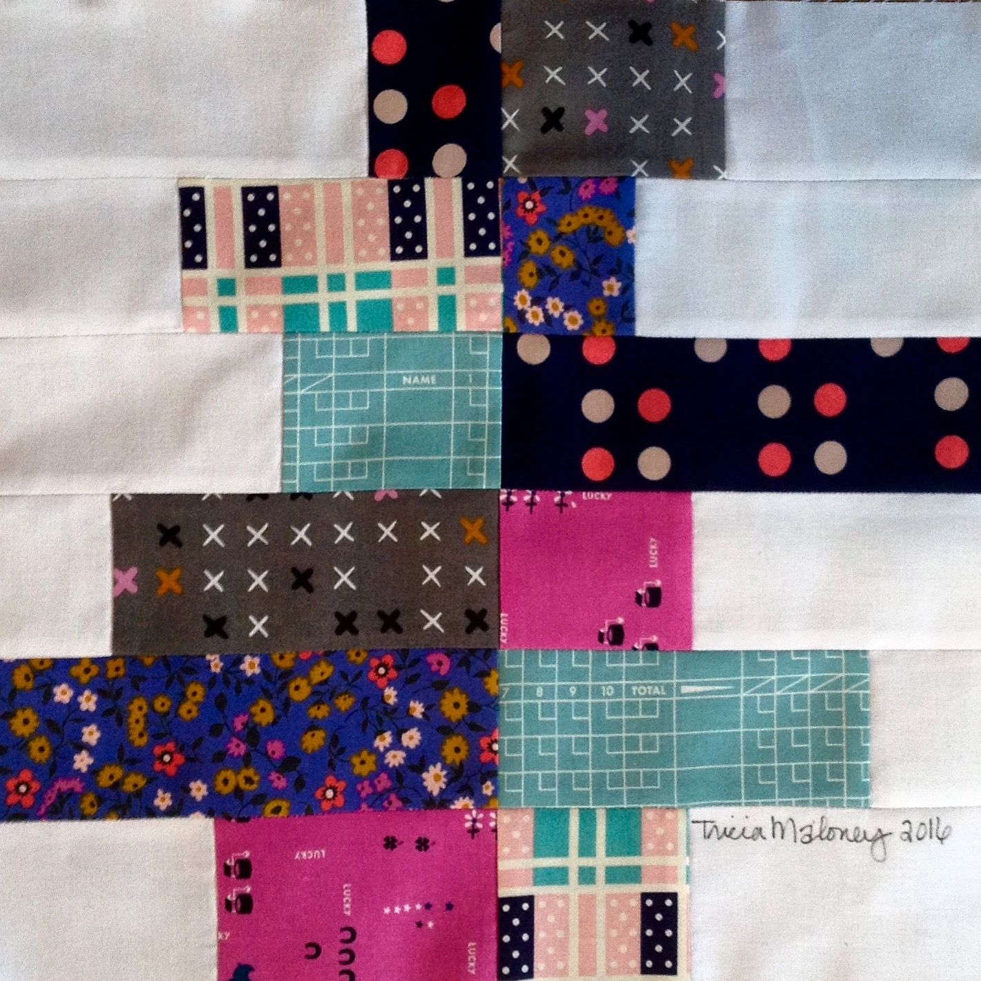 This is my block called City Block  for Quiltmaker's 100 Blocks vol. 15.  Magazine is on sale now at your favorite retailer.  Get your copy today.  Stop by my blog before May 7th to for your chance to win a copy.   www.quiltwithaview.blogspot.com