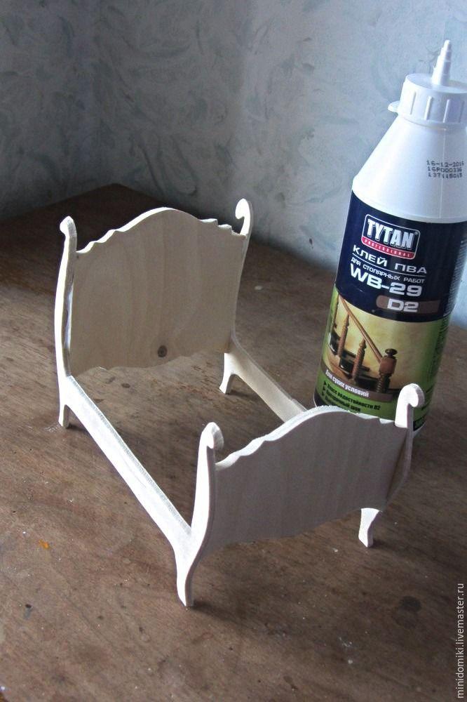 Making A Miniature Mouse S Bed Derevyannyj Kukolnyj Domik Mebel Dlya Kukol Miniatyury