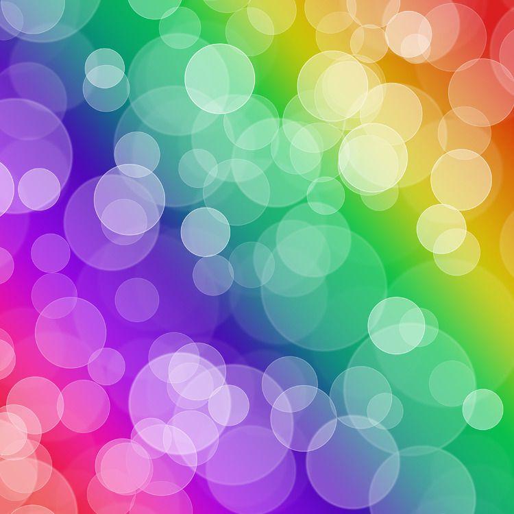 Bokeh Digital Papers Colorful Bokeh Scrapbook Paper Ombre