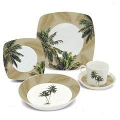 hawaiian+dinnerware | Coconut Palm Porcelain Dinnerware ...