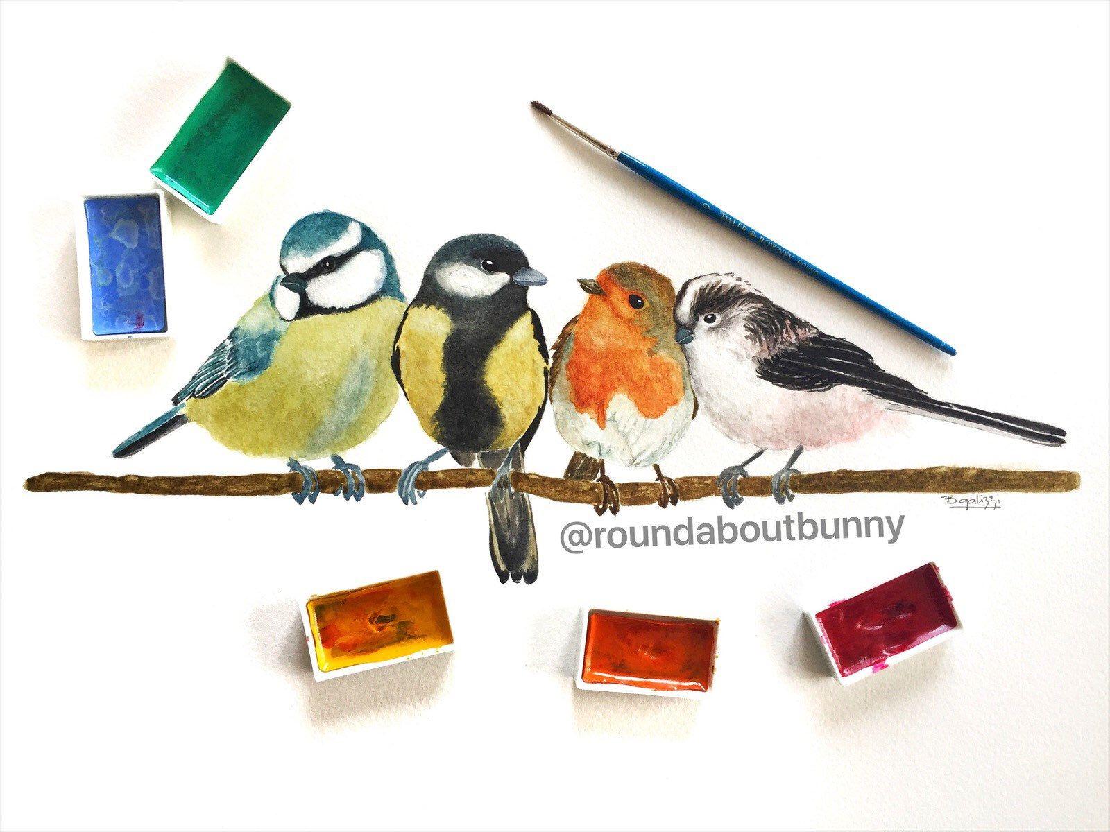 British Garden Birds Print Birds Prints Woodland Art Prints