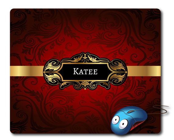 personalised mouse mat name mouse pad monogram mousepad personalized