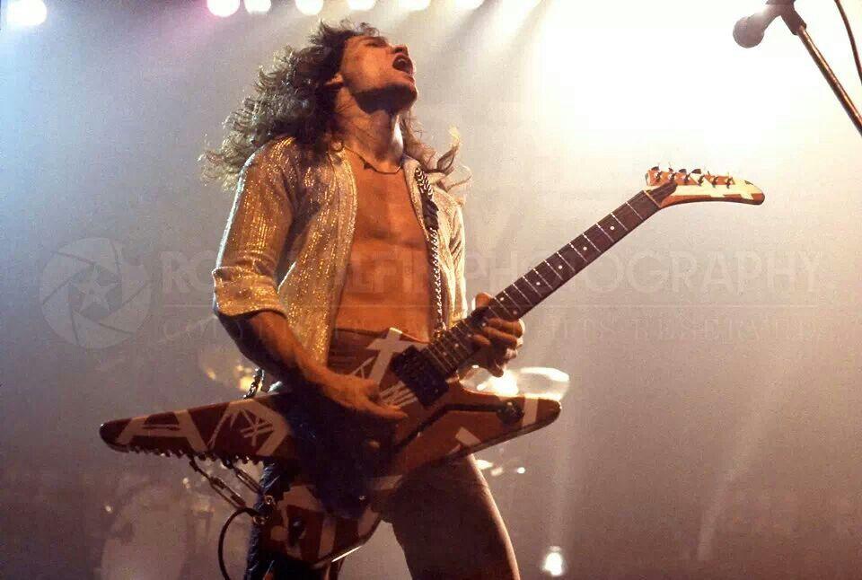 Eddie Van Halen Playing His Shark Musicians I Admirelove