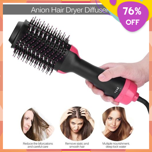 Fashion Curler Brush Straightener Hair Dryer Volumizer Iron Hair Styling Curling Hot Air Comb Best Makeup Tips Best Makeup Products Hair Dryer Diffuser