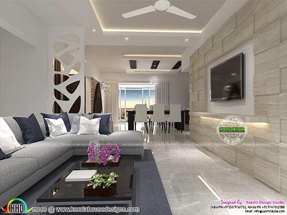 Flat Interior Designs In Kerala Flat Interior Design 3d