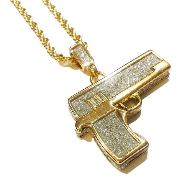 18k gold plated glock gun pendant hip hop necklace with glittered 18k gold plated glock gun pendant hip hop necklace with glittered 18 mozeypictures Images