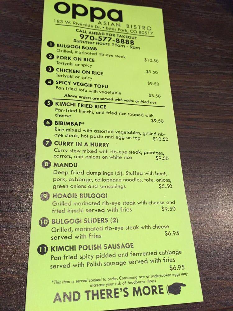 Photos for oppa asian bistro yelp asian bistro menu