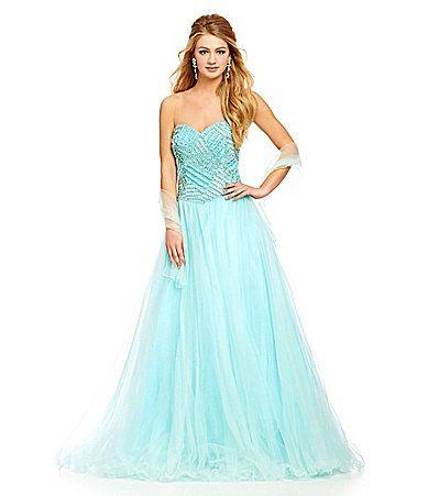 Savannah Nights Pearl Embellished Bodice Ball Gown #Dillards ...