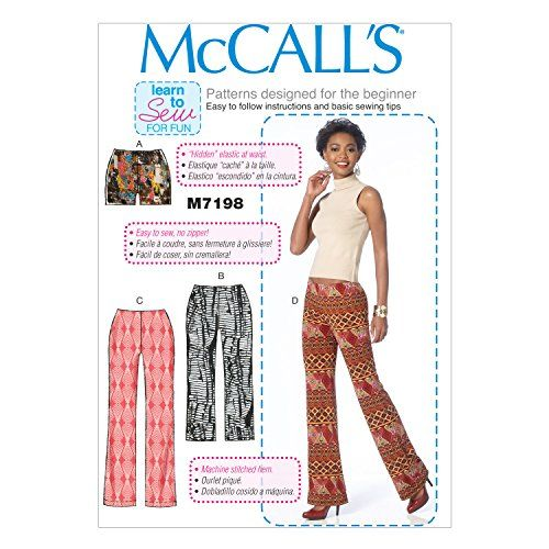McCall\'s Patterns M7198 Misses\' Shorts and Pants Sewing T ...