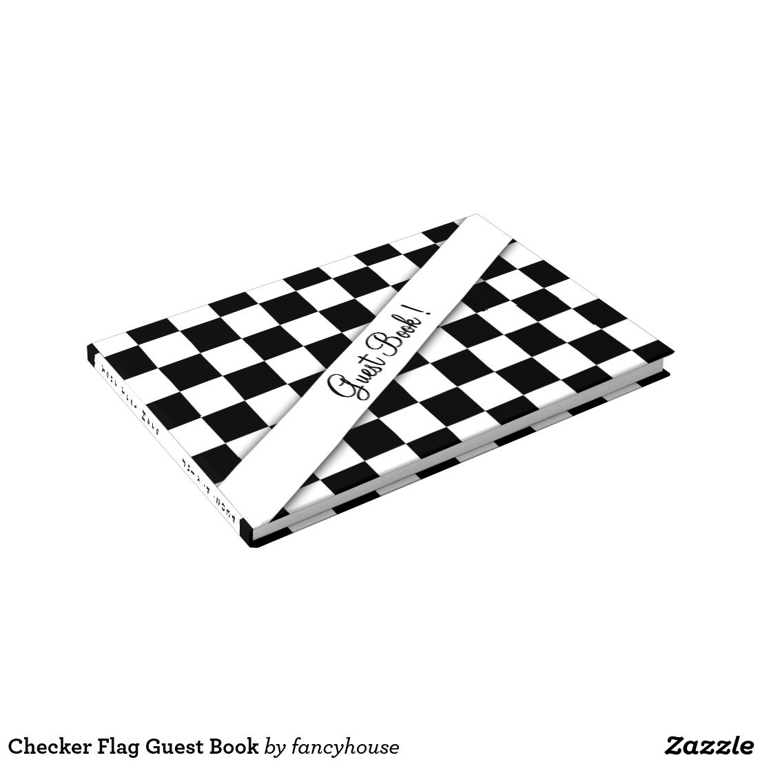 Checker Flag Guest Book | Checkered flag, Car themed wedding and Wedding