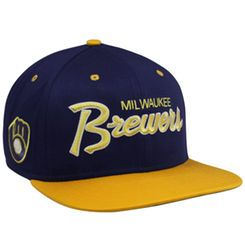 timeless design 083b3 57af2 Milwaukee Brewers Nike Cooperstown Collection SSC Throwback Adjustable  Snapback Hat - Navy