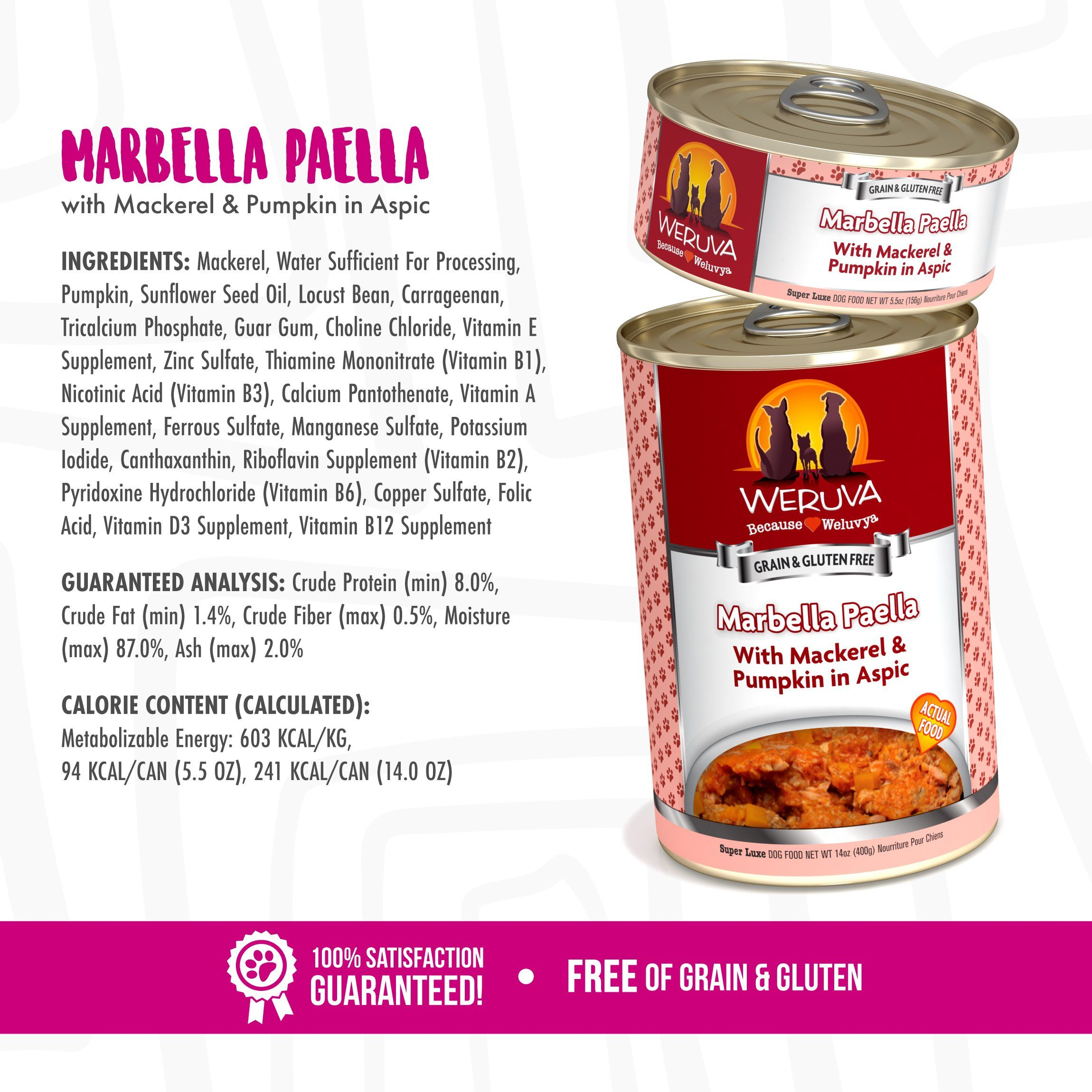 Weruva Classic Dog Food Marbella Paella With Mackerel And Pumpkin In Aspic 14oz Can Pack Of 12 Click Image To Review More Dog Food Recipes Wet Dog Food Food
