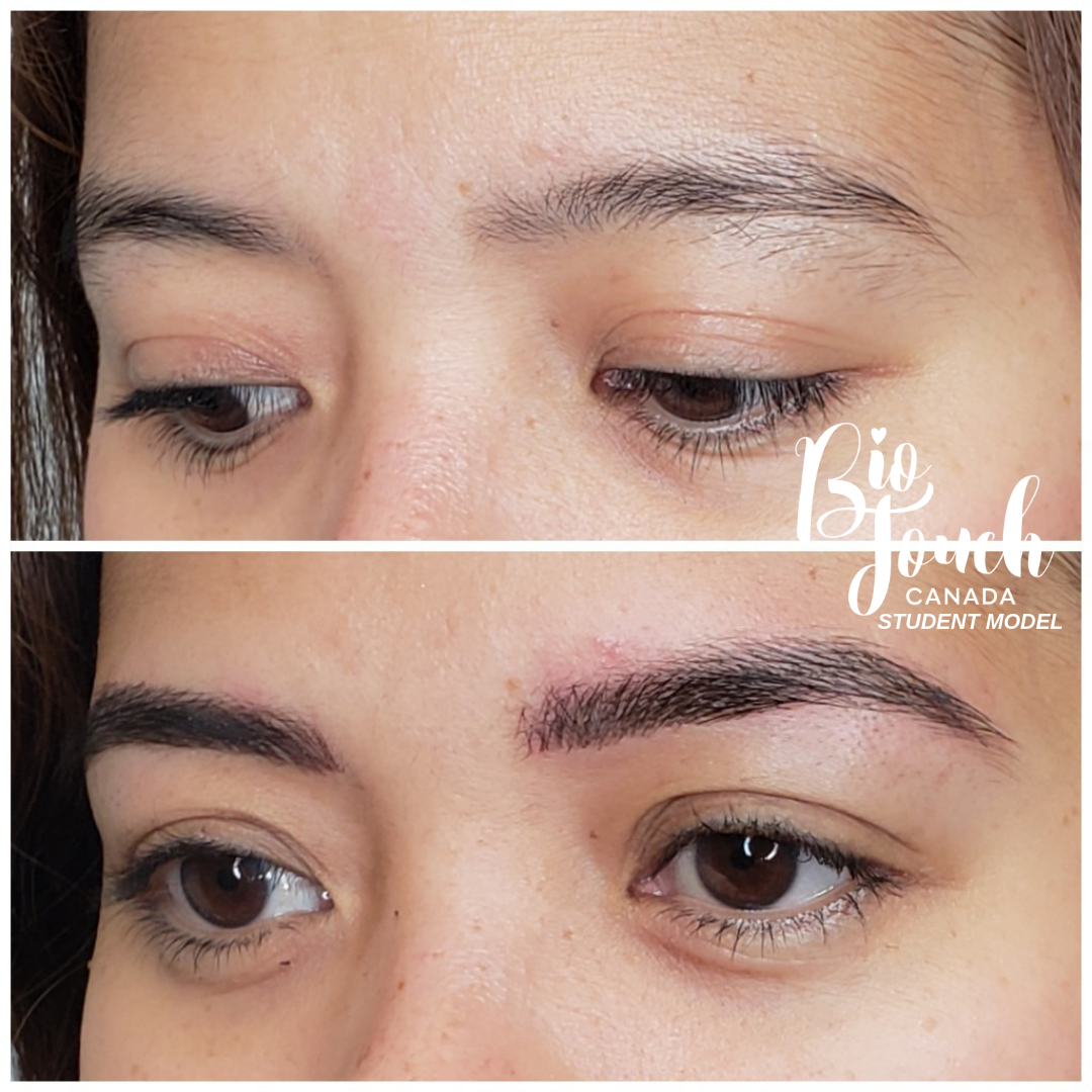Our students are so talented! This student model's eyebrow
