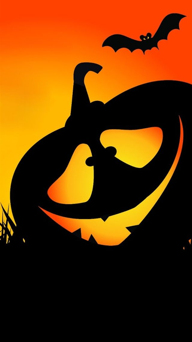 Halloween pumpkin 3 iphone 5 wallpapers top iphone 5 - Fensterbilder halloween ...