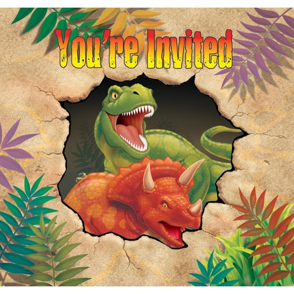 Dino Blast Dinosaur Dinner Plates x 8 Dinosaur Party