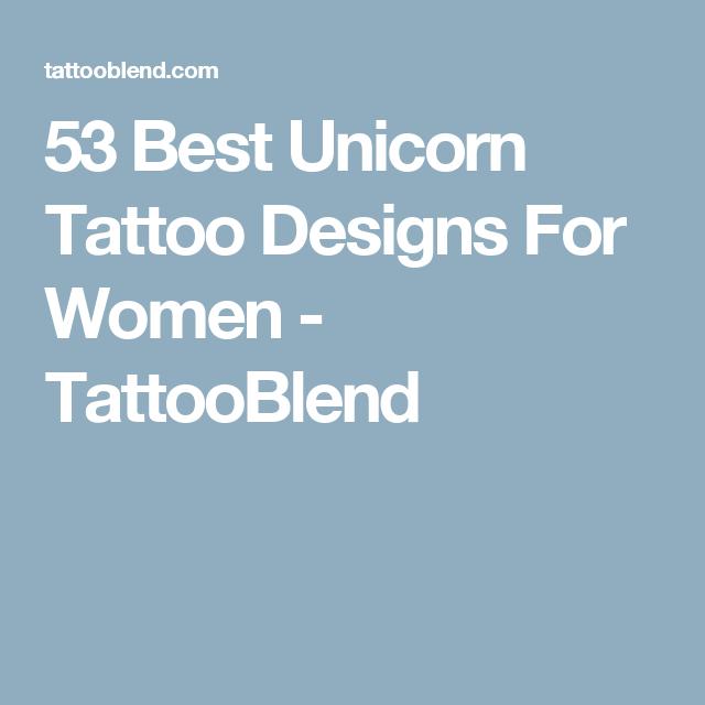 53 Best Unicorn Tattoo Designs For Women - TattooBlend
