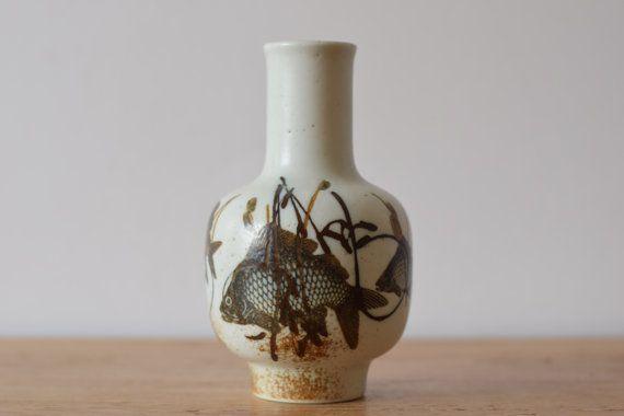 Royal Copenhagen Denmark Fish Vase 10635367 By Danishmood Vintage