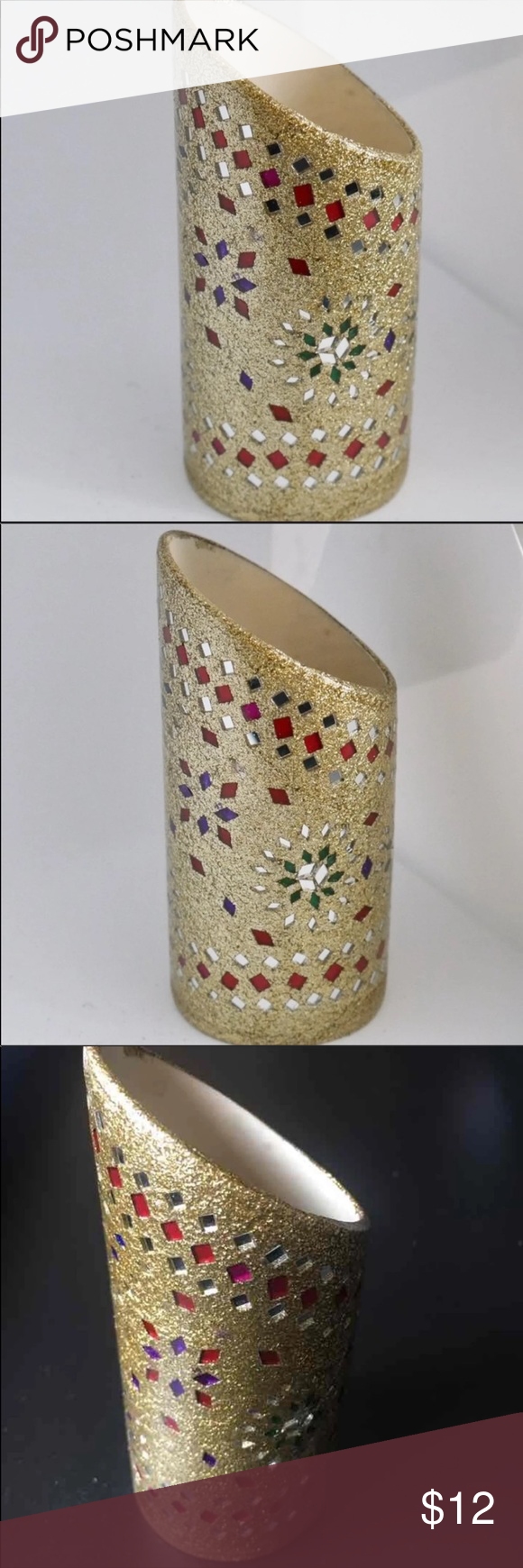 Glitter Mirror work Indian Makeup Cup This is brand new