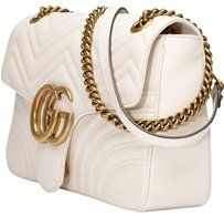 00f88fc21 Gucci Marmont New Gg White Leather Shoulder Bag | Bags | Leather ...