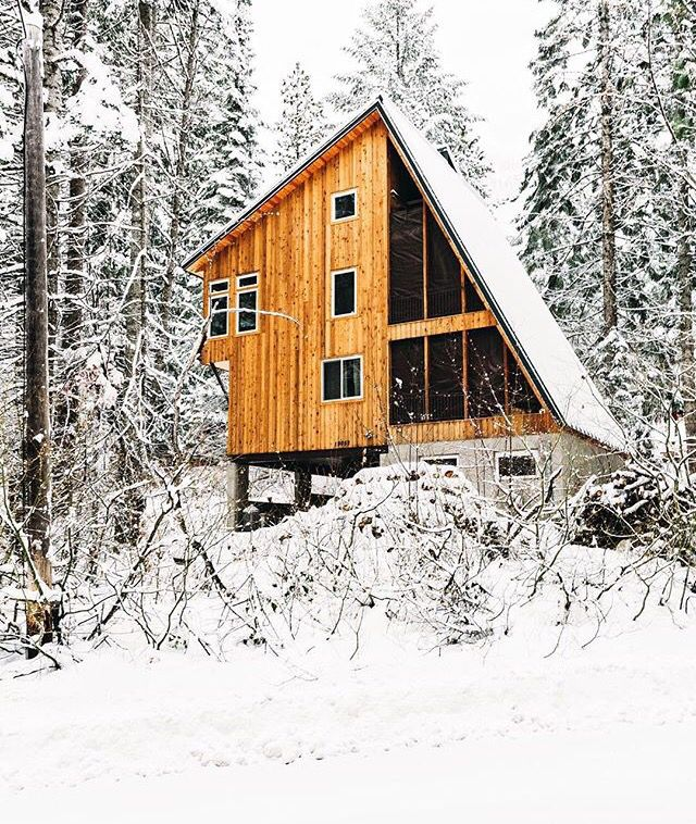 Amazing Custom Midcentury Modern Cabin In Snow