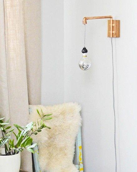 une applique murale diy en cuivre d co pinterest. Black Bedroom Furniture Sets. Home Design Ideas