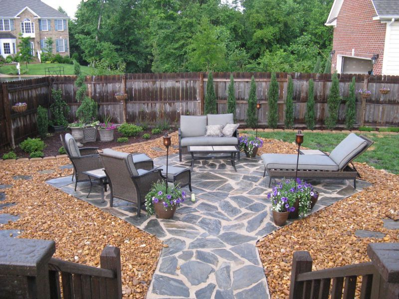Stone Patio Ideas Backyard cut stone patio patio belknap landscape co inc 20 Rock Garden Ideas That Will Put Your Backyard On The Map