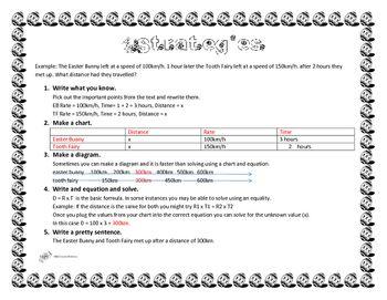 Easter Distance, Rate, Time Worksheet   Time worksheets ...