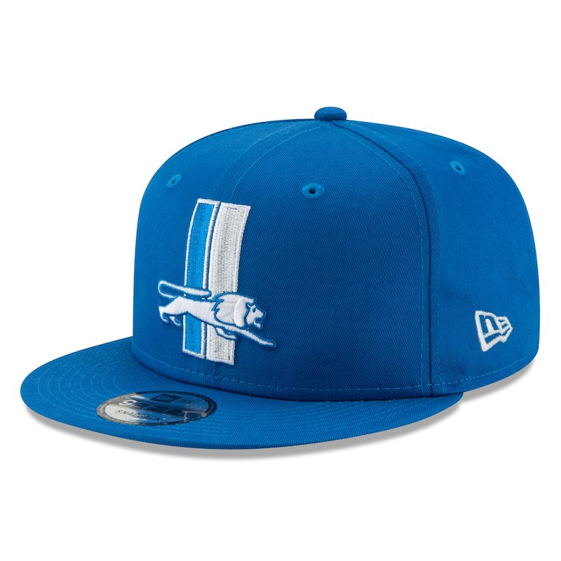 new arrival 84bcd 1be1b Detroit Lions New Era Throwback 9FIFTY Adjustable Snapback Hat - Blue