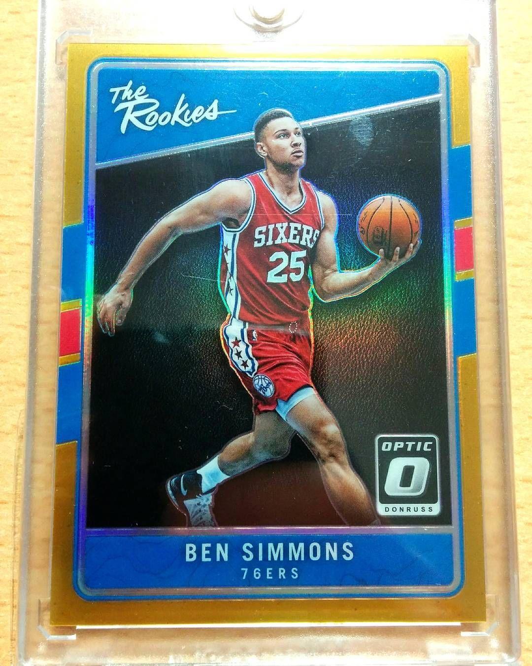16-17 Panini Optic Donruss Ben Simmons RC The Rookies Gold holo  10 ... a2682cb6f